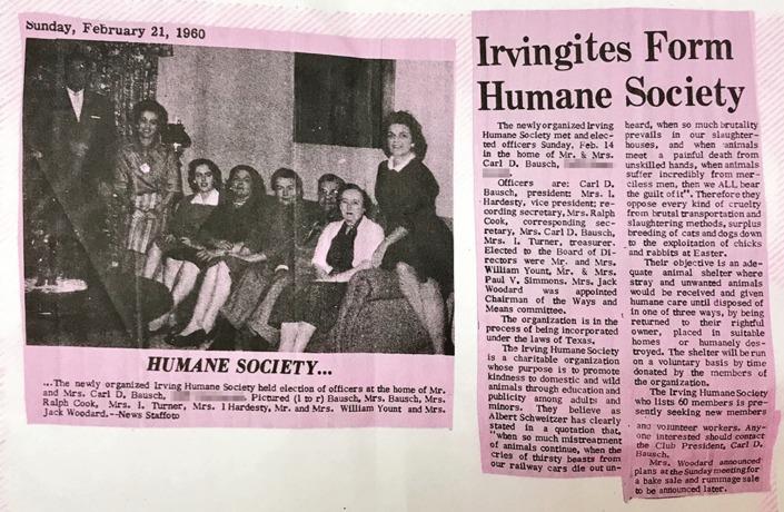 Irvingites Form Humane Society